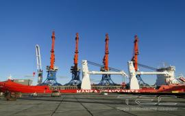 "Transportation of 4 Gantry Cranes ""Vitjaz"""