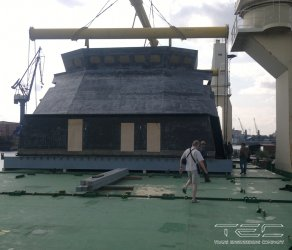 2012 Works on delivery of superstructure sections on mv