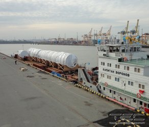 2014 Complex of works on equipment delivery on barge 2034