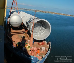 2014 Complex of works on delivery of two columns on barge 3109 NP-TEHNO