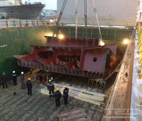 2014 Transportation of ice-breaker parts on mv