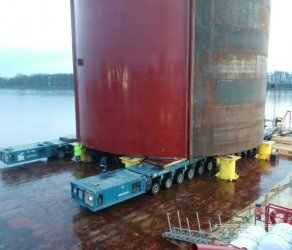 2017 - Project for loading and transportation of large diameter casings for LNG receiving terminal construction in Kaliningrad.