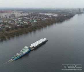2017. Project for delivery of 10 adsorbtion columns from Varenikovskaya village (the Krasnodar Territory) to the sea port of Ust-Luga (the Leningrad Region). The second stage of the Project effected in the port Temryuk became unique from the point of